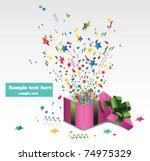 open explore gift   Shutterstock .eps vector #74975329