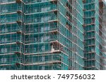 tall building under... | Shutterstock . vector #749756032
