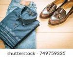 beautiful fashion men's casual...   Shutterstock . vector #749759335