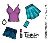 female fashion clothes icon | Shutterstock .eps vector #749767675