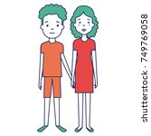 lovers couple avatars characters | Shutterstock .eps vector #749769058