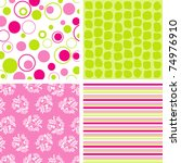 scrapbook patterns for design ... | Shutterstock .eps vector #74976910
