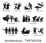 social problems and critical... | Shutterstock .eps vector #749769256