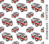 Fire Engine Seamless Pattern...