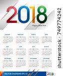 creative vector of 2018 new... | Shutterstock .eps vector #749774242