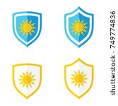 shield and sun uv protection ... | Shutterstock .eps vector #749774836