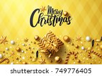 christmas and new years golden...   Shutterstock . vector #749776405