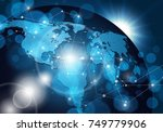 vector global network connection | Shutterstock .eps vector #749779906