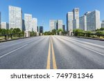asphalt road and urban... | Shutterstock . vector #749781346