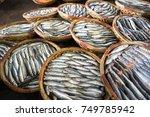 boiled fish basket. seafood... | Shutterstock . vector #749785942