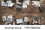 group of diverse business... | Shutterstock . vector #749788006