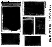 antique film negatives | Shutterstock . vector #749790688
