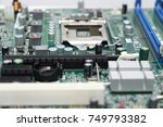 close up of computer... | Shutterstock . vector #749793382