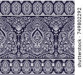 indian floral paisley seamless... | Shutterstock .eps vector #749802292