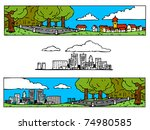 landscape | Shutterstock .eps vector #74980585