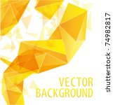 yellow gold triangle abstract... | Shutterstock .eps vector #74982817