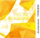 yellow gold triangle abstract... | Shutterstock .eps vector #74982850