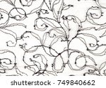 texture lace fabric. lace on... | Shutterstock . vector #749840662