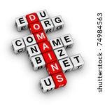 domain names - stock photo