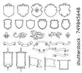 illustrations of armed medieval ... | Shutterstock .eps vector #749845648