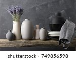 home decor   neutral colored... | Shutterstock . vector #749856598