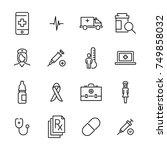 modern outline style health... | Shutterstock .eps vector #749858032