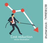 cost reduction concept.... | Shutterstock .eps vector #749858158