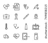simple collection of medical... | Shutterstock .eps vector #749858215