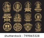 vintage vector beer labels on...   Shutterstock .eps vector #749865328