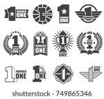 number one vector logos set.... | Shutterstock .eps vector #749865346
