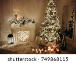 warm and cozy evening in... | Shutterstock . vector #749868115