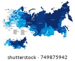 map of russia with regions | Shutterstock .eps vector #749875942