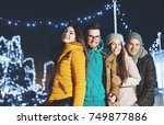 young people outdoors having... | Shutterstock . vector #749877886