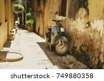 street of stone town. tanzania. ... | Shutterstock . vector #749880358