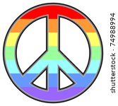 pacific symbol in rainbow colors | Shutterstock .eps vector #74988994