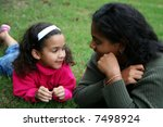 a mixed race mother and daughter   Shutterstock . vector #7498924