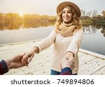 i will never let you go.... | Shutterstock . vector #749894806
