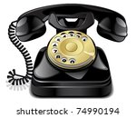 vector telephone | Shutterstock .eps vector #74990194