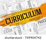 curriculum word cloud collage ... | Shutterstock .eps vector #749904742