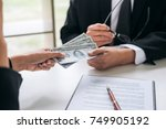 bribery and corruption concept  ... | Shutterstock . vector #749905192