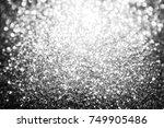 black glitter sparkle... | Shutterstock . vector #749905486