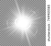 star burst with sparks  light... | Shutterstock .eps vector #749905585