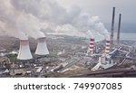 white smoke over power plant....