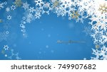 christmas dark background with... | Shutterstock .eps vector #749907682