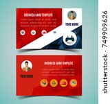 vector of name card template. | Shutterstock .eps vector #749909626