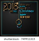 2018 happy new year background... | Shutterstock .eps vector #749911315