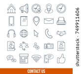 line icon set vector... | Shutterstock .eps vector #749911606