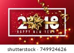 vector 2018 happy new year... | Shutterstock .eps vector #749924626