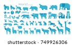 animal mega set side view pose. ... | Shutterstock .eps vector #749926306