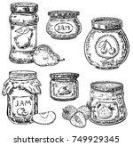 vector ink hand drawn style jam ... | Shutterstock .eps vector #749929345